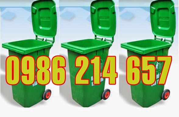 thùng rác công cộng 240 lit