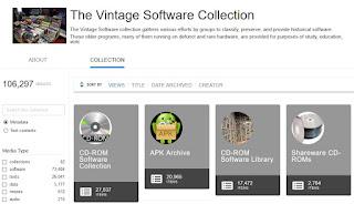 Colección de Software antiguo de Archive.org