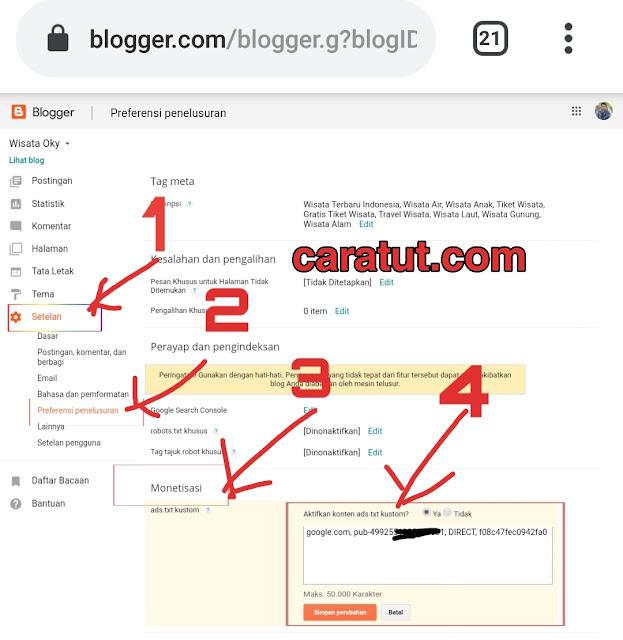 Cara Mengatasi File Ads.txt pada Google Adsense