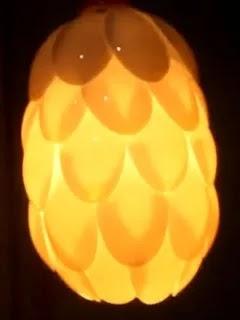Berikut Proposal Lampu Hias Dari Sendok Plastik Lampu