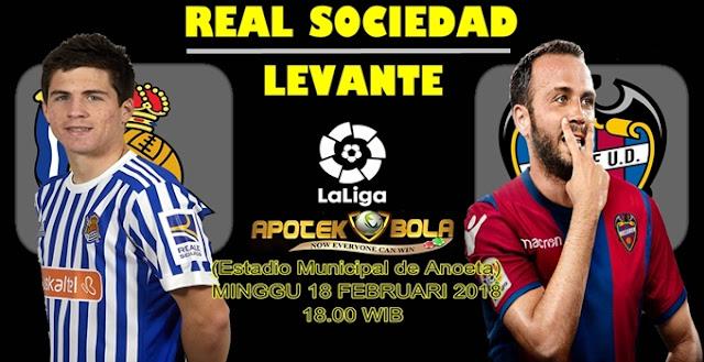 Prediksi Real Sociedad vs Levante 18 Februari 2018