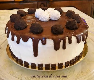 drip cake al cioccolato con froasting al mascarpone ricetta di pasticceria di casa mia