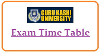 Guru Kashi University Exam Date Sheet 2020