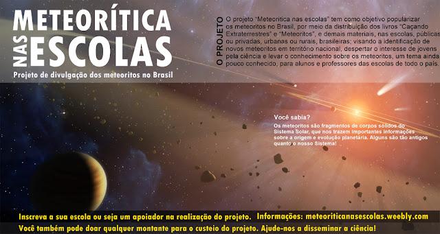 projeto meteoritica nas escolas - banner