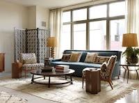 Mid-century apartment interior design example