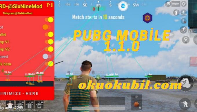 Pubg Mobile Kore 1.1.0 SixNine Mod Menu Hilesi Sezon 16 İndir Yeni