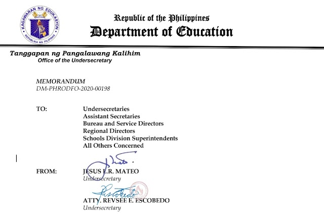 DepEd highly recommends work from home, discourages physical reporting