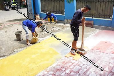 Proses Pengerjaan Stamp Concrete