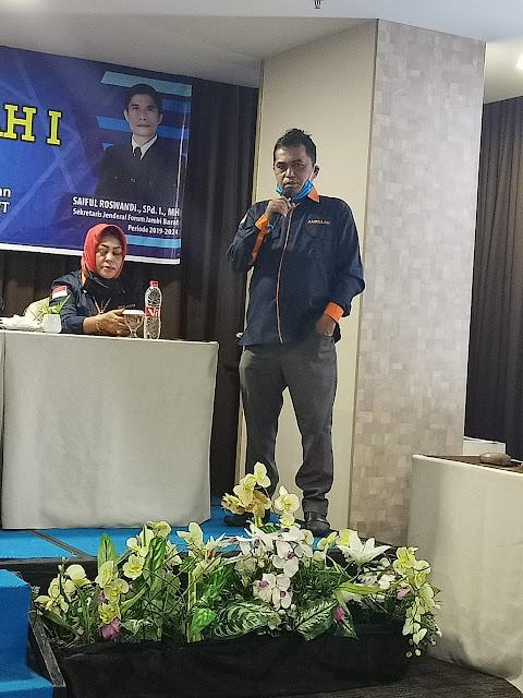 Ketua Panitia Forum Jambi Barat Ihsanudin Berhasil Gelar Rapat Kerja Daerah I