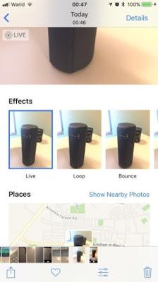 Efek Live Photos di aplikasi Kamera iPhone