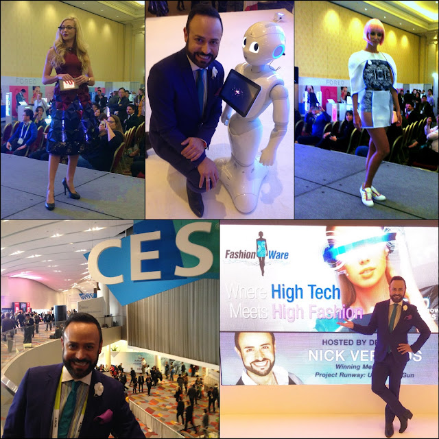 "NICK HOSTS.....Nick Verreos Hosts the Living In Digital Times ""2016 FashionWare"" Fashion Show CES Las Vegas: BLOG RECAP!"