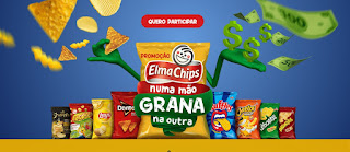 Cadastrar Promoção Elma Chips Numa Mão Grana na Outra Prêmios na Hora 20, 50 ou 100 Reais