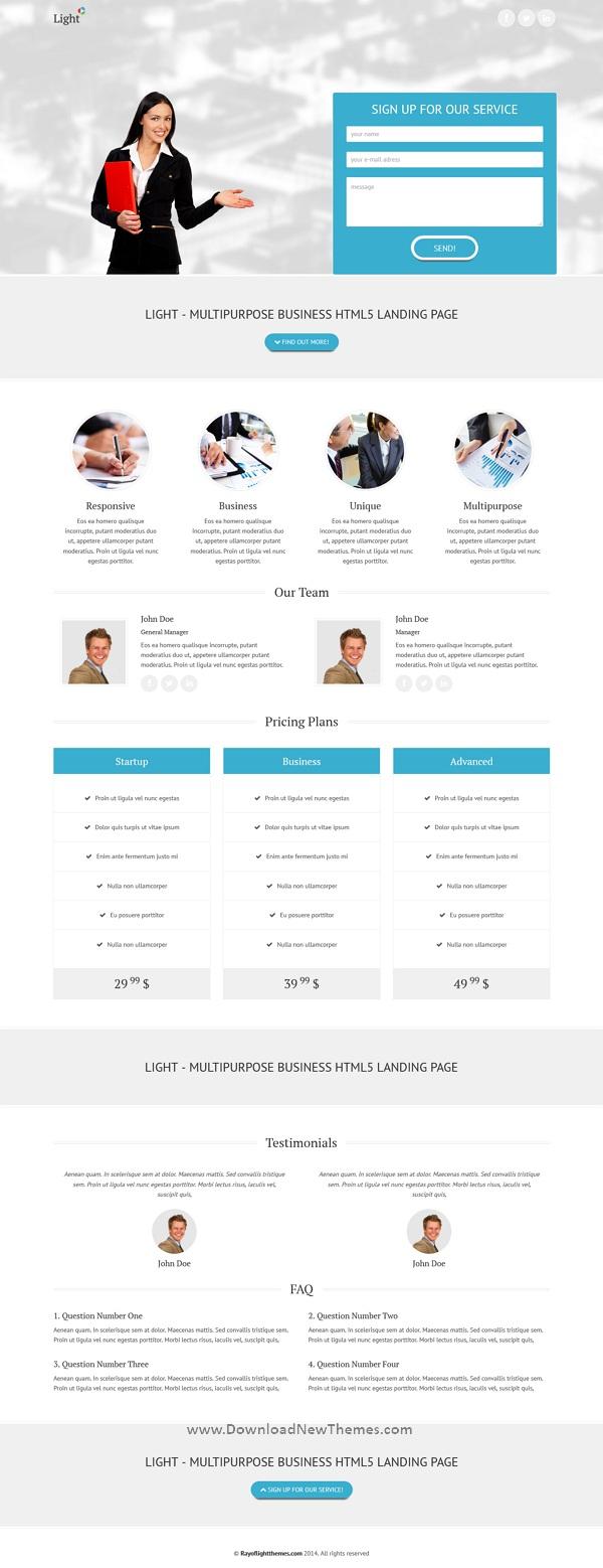 Multipurpose Business Landing Page
