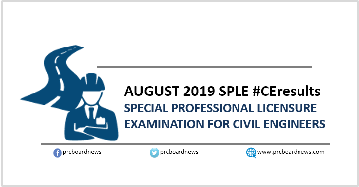 SPLE Result: August 2019 Civil Engineer CE board exam list of passers (Middle East)