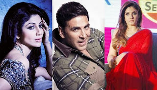 Shilpa Shetty and Raveena Tandon agrees admittedly Akshay Kumar in their mistake.