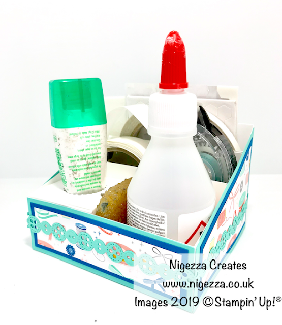 Nigezza Creates Pootlers New Catalogue Blog Hop: Desk Top Adhesive Storage using Stampin' Up! Follow Your Art