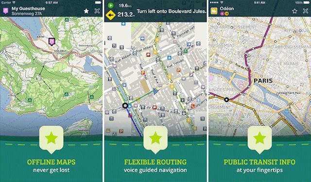 iPhone排名前5位的离线地图应用程序,用于保存数据计划