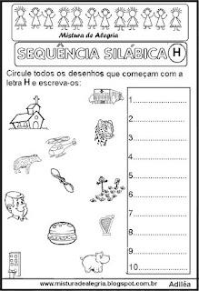 Sequência silábica, autoditados H