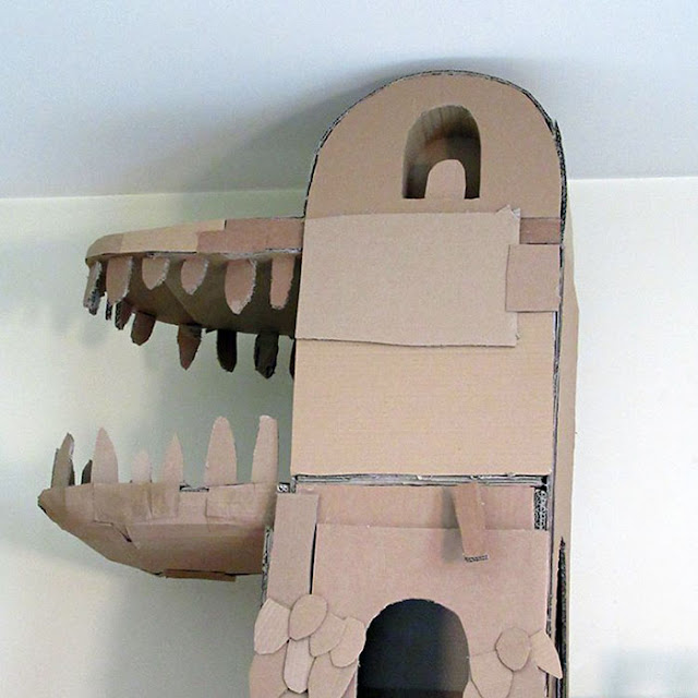 """""""I love making things, especially out of cardboard. My cat also loves cardboard and I love my cat"""""""