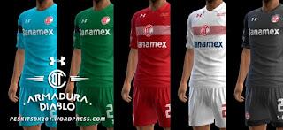 Toluca F.C. Kits 2016-2017 Pes 2013
