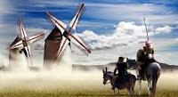 Quijote, Sancho y Molinos de viento