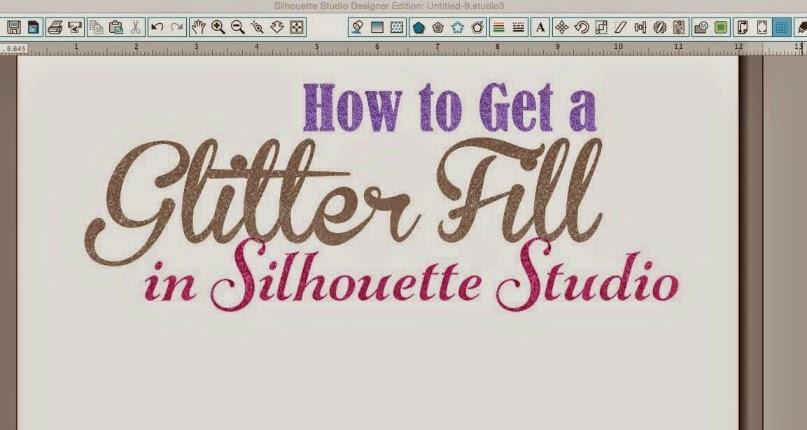 Silhouette Studio, Silhouette tutorial, glitter fill