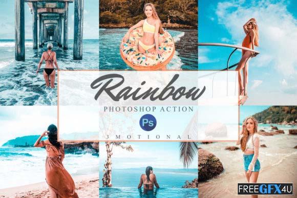 11 Rainbow Photoshop Actions, ACR, LUTs