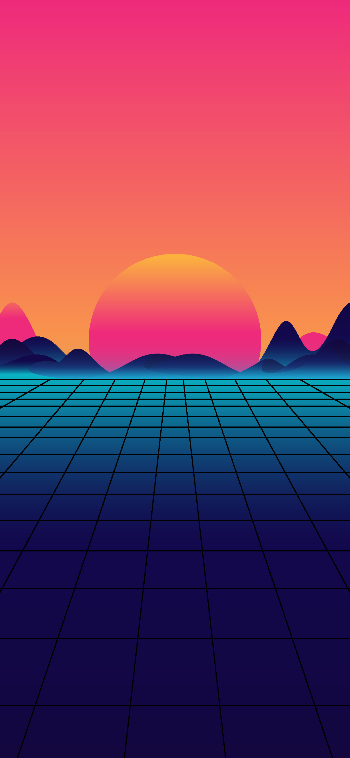 Beautiful and cool synthwave wallpaper day