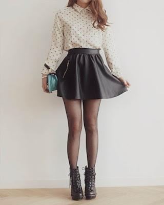Outfit con minifalda