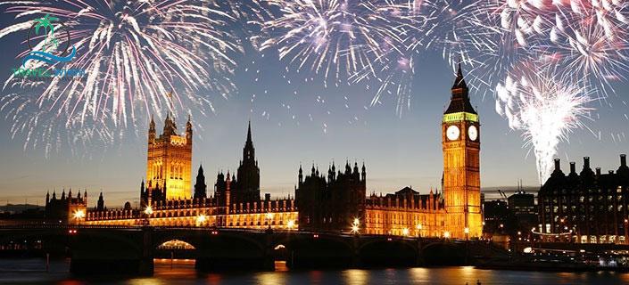 London at new year