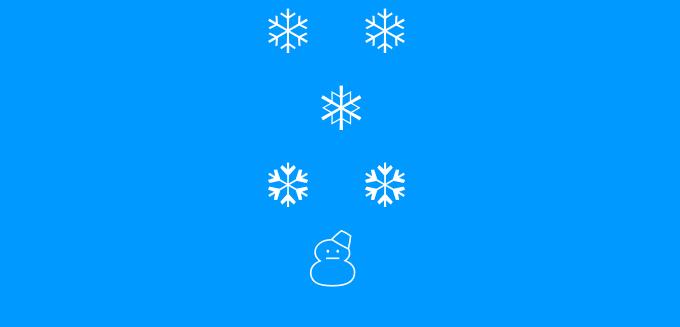 اضافة تأثير سقوط الثلج للبلوجر