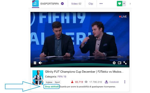 FIFA 19 regala pacchetti tramite canale twitch