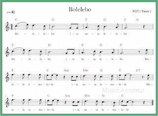 not balok lagu bolelebo lagu daerah nusa tenggara timur