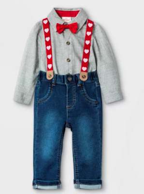 Boys Suspender Valentine's Day Outfit