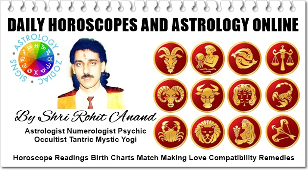 Daily Astrology Online, Horoscope Readings Today for Zodiac Birth Charts