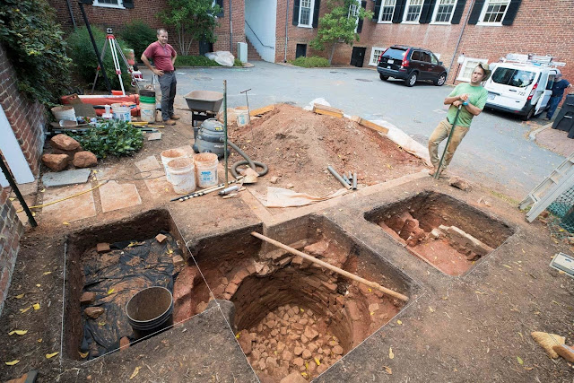 East Range archaeological excavations reveal more of early life at Virginia University