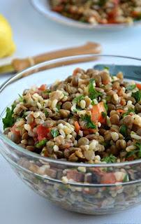 Yeşil Mercimek Salatası Malzemeleri Resimleri
