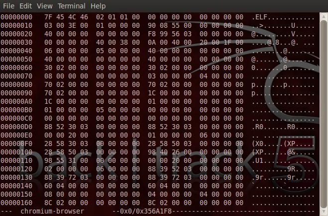 hexedit chromium-browser