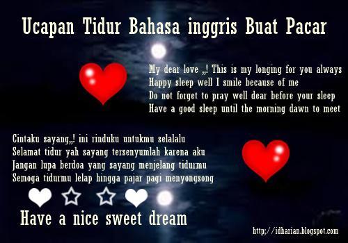 Ucapan Selamat Tidur Romantis Buat Pacar Bahasa Inggris Dan