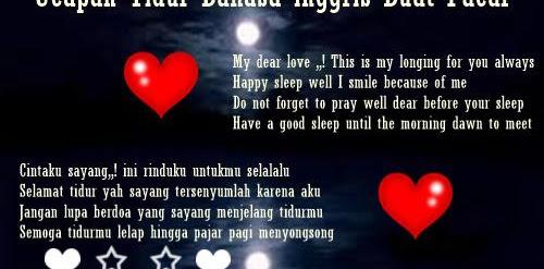 Best Ucapan Selamat Tidur Buat Pacar Bahasa Inggris Dan Terjemahan