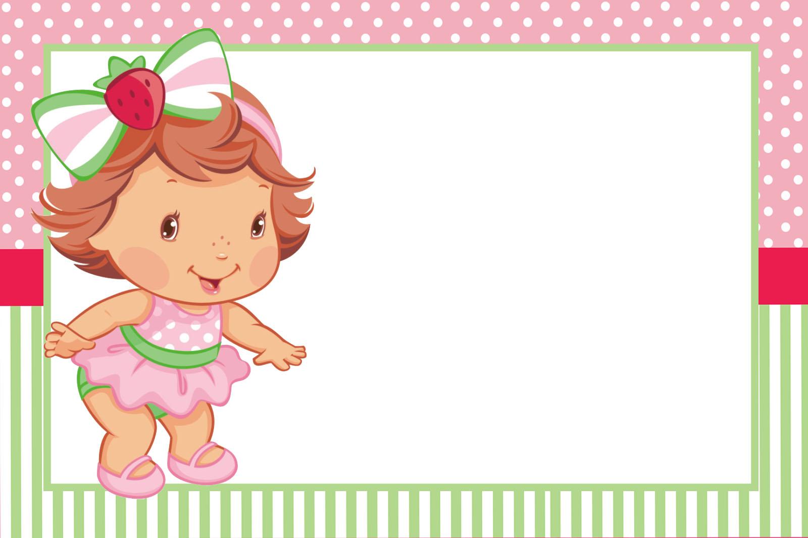 Strawberry Shortcake Girl Wallpaper Kit Festa Pronta Moranguinho Baby Gr 193 Tis Para Baixar