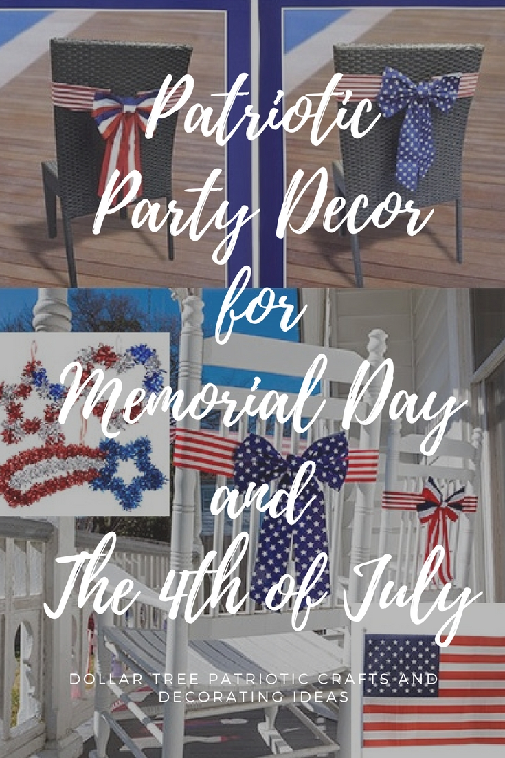 Patriotic Party Decorations, Supplies and Craft ideas