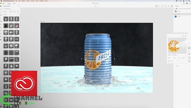 طريقة تحميل Adobe Dimension CC 2020