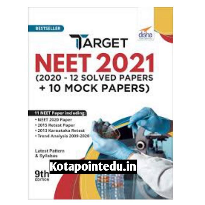 Disha Target Neet 2021 Books Pdf Download