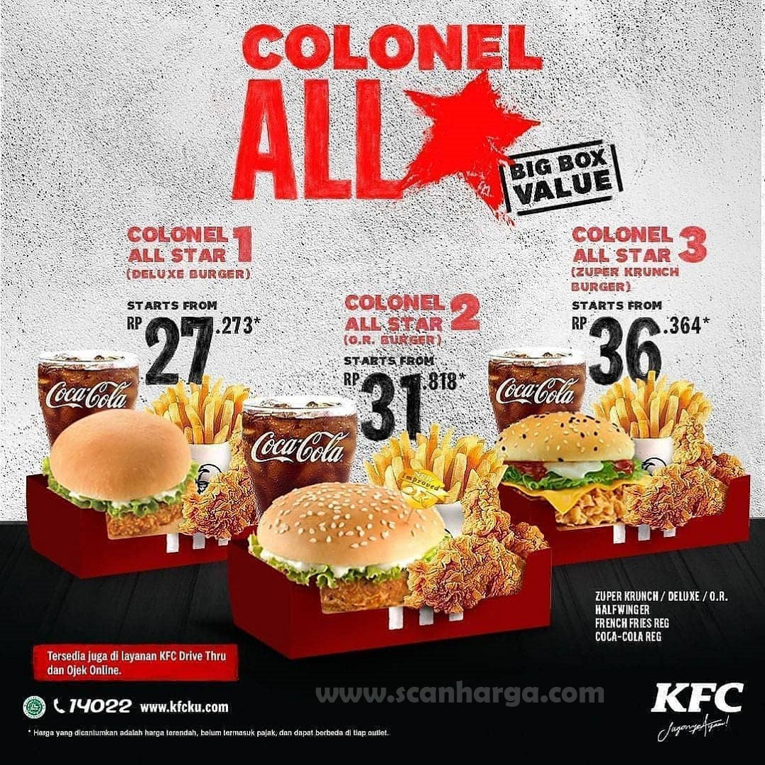 Promo KFC Colonel All Star Baru Big Box Value Harga Mulai ...