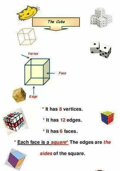 شرح المجسمات solids ماث الصف الثاني ترم اول 2