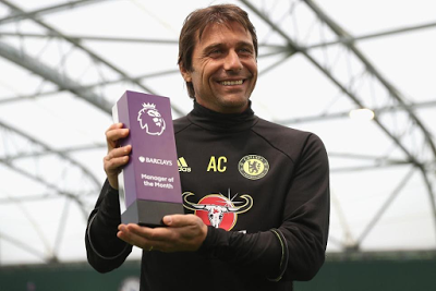 Chelsea coach Antonio Conte breaks record, wins 3rd consecutive EPL manager Of the month award