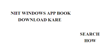 NIIT WINDOWS APP BOOK DOWNLOAD KARE - Search How