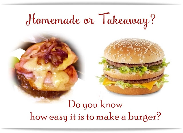 homemade burger vs takeaway, how to make a burger