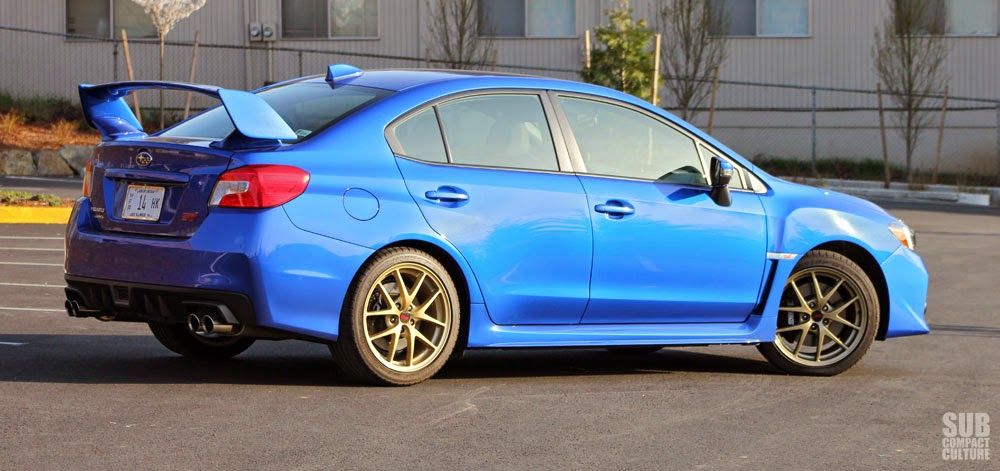 2015 WRX STI rear shot